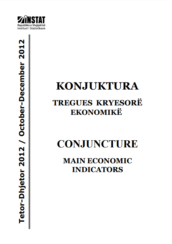 Conjucture, Main Economic Indicators, October - December 2012