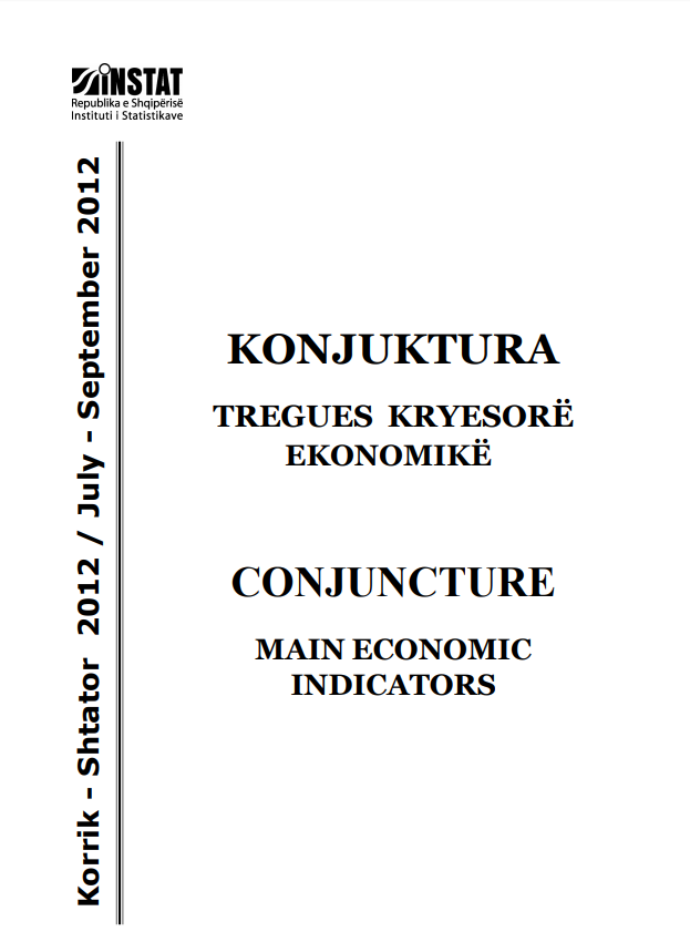 Conjucture, Main Economic Indicators, July - September 2012